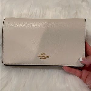 NWT COACH Hayden Foldover Crossbody Clutch Chalk